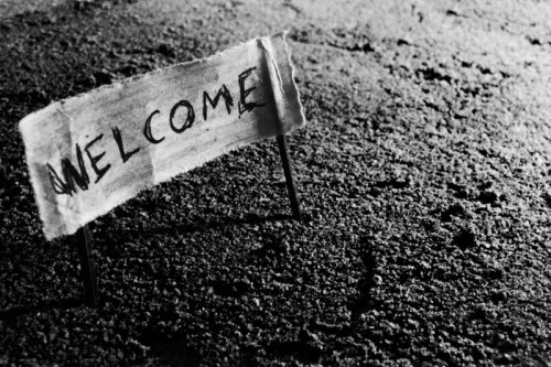 welcome-plank-old-sign-mystery-mysterious-black